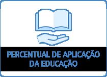 Percentual de aplicação da educação