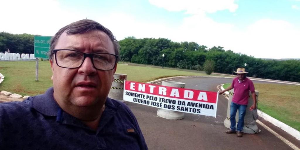 BARREIRA SANITÁRIA E A INTERDIÇÃO  DO TREVO DA AVENIDA GENERAL OSÓRIO.