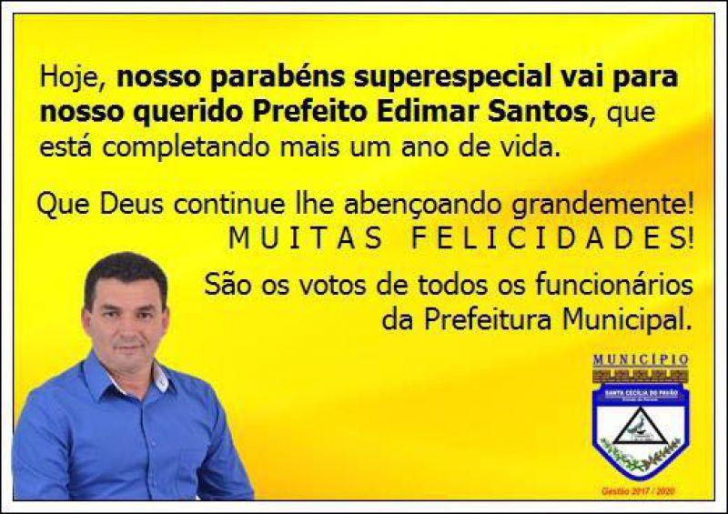 FELIZ ANIVERSÁRIO EDIMAR SANTOS