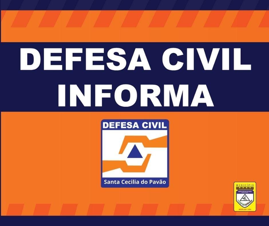 COMUNICADO DA DEFESA CIVIL
