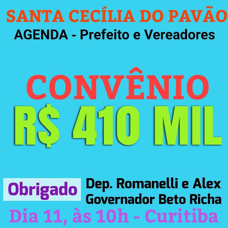 PREFEITO E VEREADORES PARTICIPAM DE ASSINATURA DE CONVÊNIO DE 410 MIL