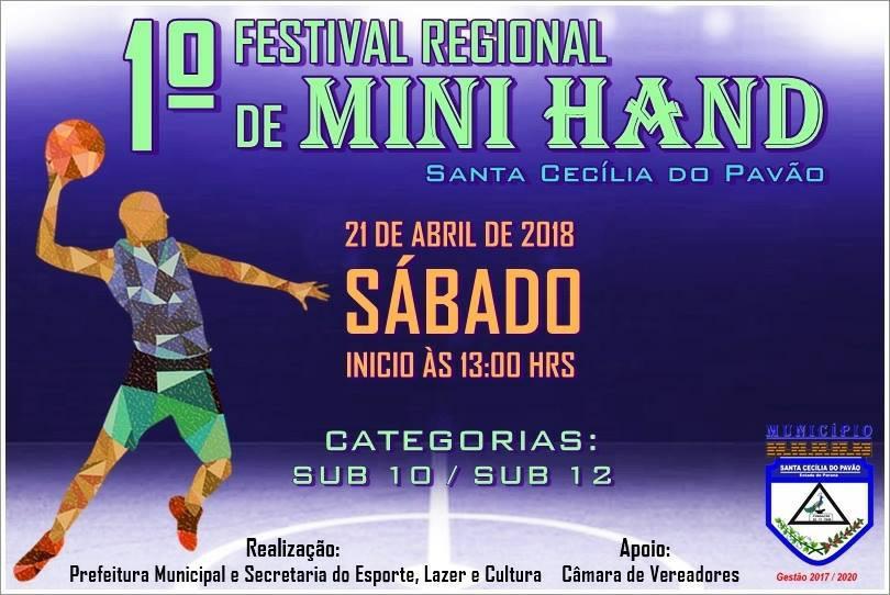 INSCRIÇÕES ABERTAS PARA O FESTIVAL REGIONAL DE HANDEBOL