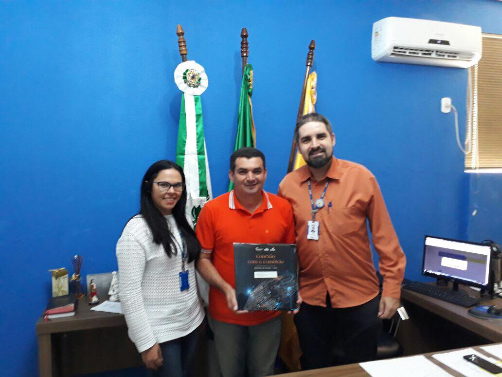 PREFEITO EDIMAR SANTOS RECEBE REPRESENTANTES DO SENAC