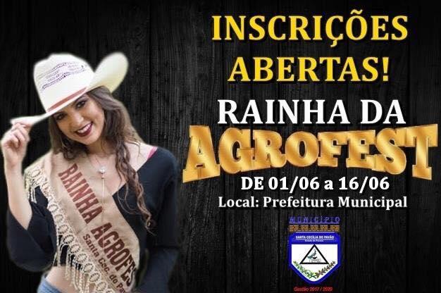 CHEGOU SUA VEZ DE SER RAINHA DA AGROFEST