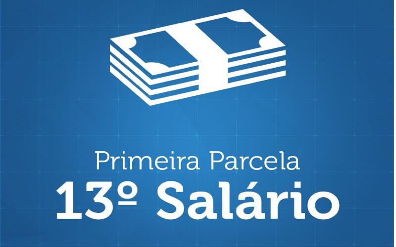 PRIMEIRA PARCELA DO 13º SALÁRIO ESTARÁ DISPONÍVEL PARA SAQUE NESTA SEXTA FEIRA.