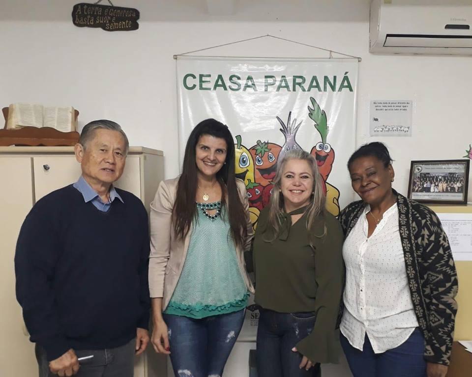 PRIMEIRA DAMA BUSCA PARCERIA COM BANCO DE ALIMENTOS DA CEASA