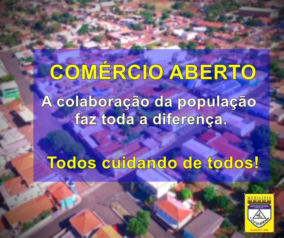 COVID-19 - COLABORE COM O COMÉRCIO LOCAL, RESPEITANDO AS MEDIDAS DE PREVENÇÃO