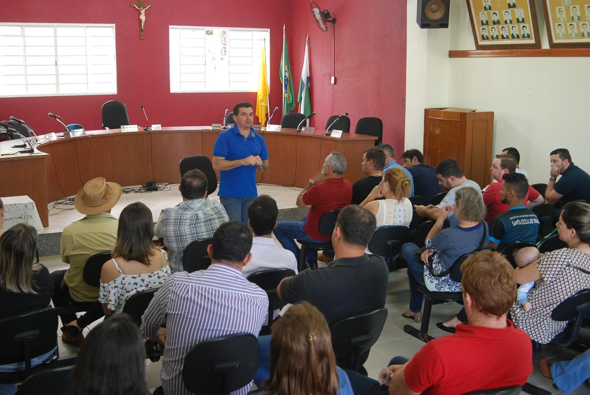 PREFEITURA, CÂMARA MUNICIPAL E LIDERANÇAS SE REÚNEM PARA ORGANIZAÇÃO DA AGROFEST 2017