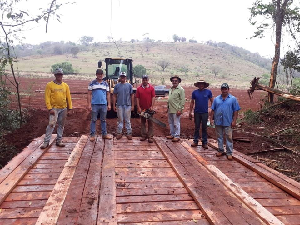 JÁ SÃO MAIS DE 20 PONTES CONSTRUÍDAS NA ÁREA RURAL