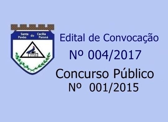 CONVOCAÇÃO CONCURSO PÚBLICO - CARGO DE ENGENHEIRO CIVIL