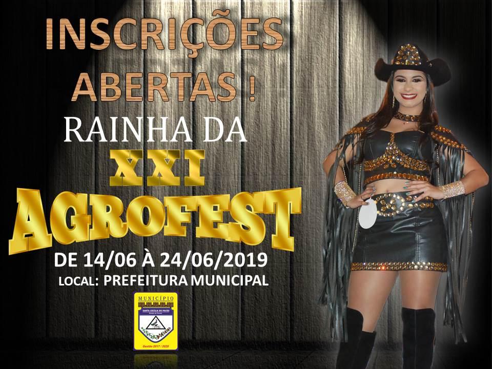 CONCURSO RAINHA DA XXI AGROFEST